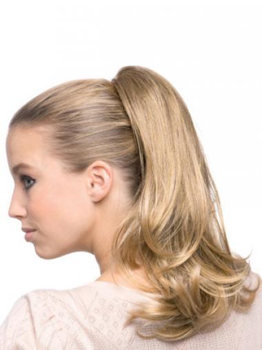 Bølge Blond Smuk Syntetisk Lang Ponytails