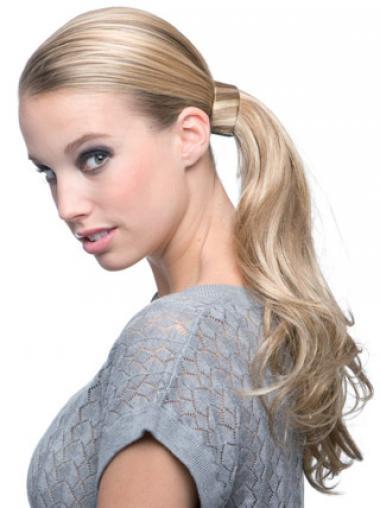 Bølge Blond Designet Syntetisk Lang Ponytails