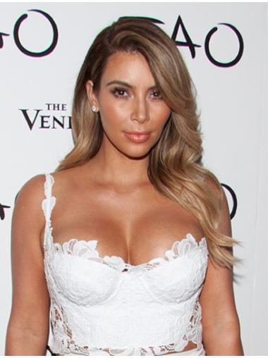 "Blond Capless Bølge Lang 18"" Kim Kardashian Parykker"