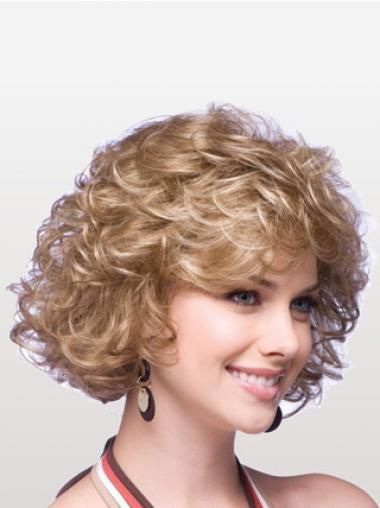 "Blond Capless Krøllet Mellem 10"" Klassiske Parykker"
