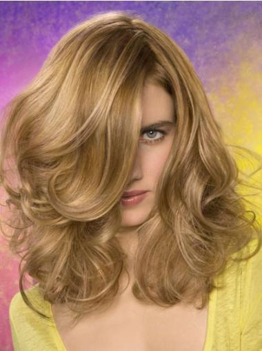 """Bølge Blond 14"""" Syntetisk Lace Front Mellem Parykker"""