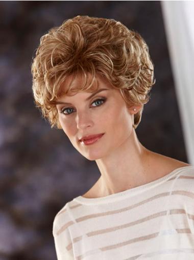 """Blond 8"""" Kort Syntetisk Bølge Lace Front Klassiske Parykker"""