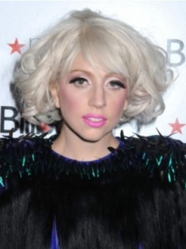 """Krøllet 10"""" Capless Syntetisk Lady Gaga Parykker"""