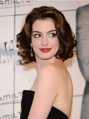 "Rødbrun 10"" Bølge Capless Mellem Anne Hathaway Parykker"