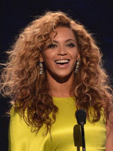 "Rødbrun 16"" Kinky Capless Lang Beyonce Parykker"