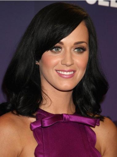 Sort Mellem Glat Med Pandehår Katy Perry Parykker