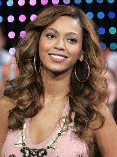 "Brun 18"" Bølge Lace Front Lang Beyonce Parykker"