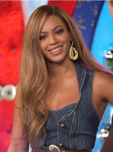 """Blød Brun 22"""" Bølge Lace Front Uden Pandehår Beyonce Paryk"""