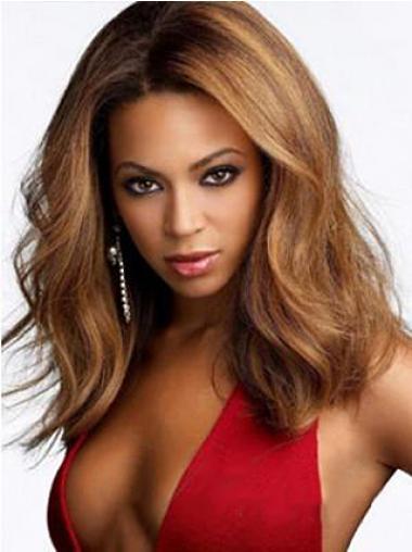 """Mellem 15"""" Rødbrun Syntetisk Bølge Uden Pandehår Beyonce Parykker"""