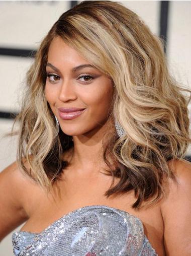 """Blond 14"""" Bølge Lace Front Mellem Beyonce Parykker"""