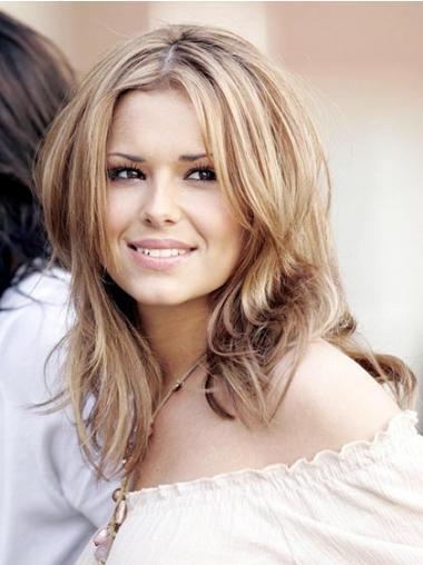 "Mellem Capless Glat 12"" Blond Cheryl Cole Parykker"