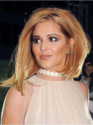 """Mellem Glat Capless 10"""" Rødbrun Cheryl Cole Parykker"""