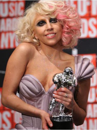 """Bølge 12"""" Capless Syntetisk Blond Lady Gaga Parykker"""