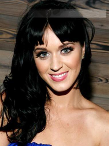 Sort Lang Bølge Med Pandehår Katy Perry Paryk