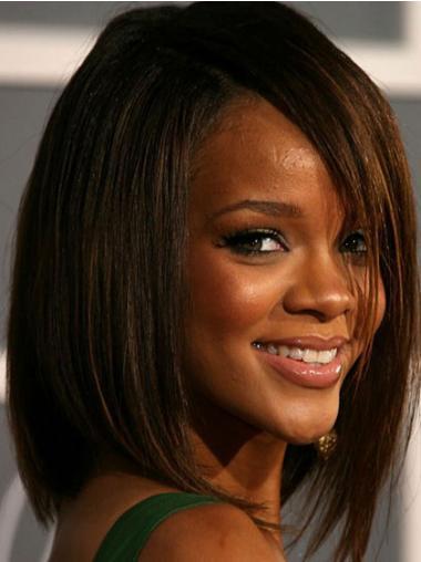 """Bob Capless 12"""" Brun Mellem Glat Rihanna Parykker"""