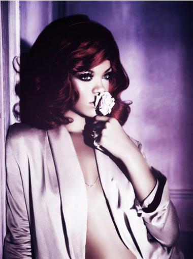 "Rød Mellem Bølge Klassiske 14"" Rihanna Parykker"