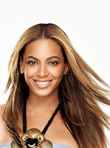 """Brun 24"""" Glat Full Lace Uden Pandehår Beyonce Paryk"""