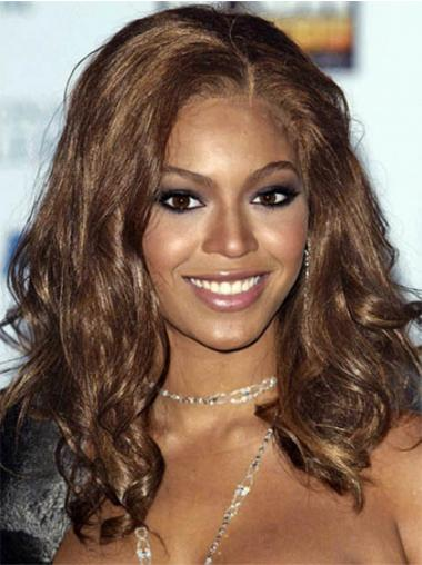 """Lang 16"""" Brun Syntetisk Bølge Uden Pandehår Beyonce Parykker"""