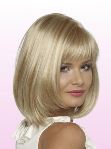 "Bob Lace Front 11"" Blond Mellem Glat Petite Parykker"