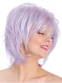 """8"""" Lilac Mellem Bob Syntetisk Capless Glat Parykker"""