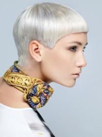 "Holdbar Lace Front 8"" Kort Glat Fashion Parykker"