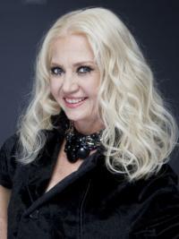 "Mellem Bølge Lace Front 18"" Platin Blonde Fashion Parykker"